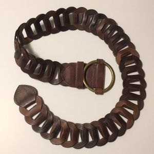 Mixit brown linked leather belt